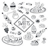 Doodle sweets Stock Photos