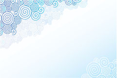 Doodle swirl clouds horizontal background Royalty Free Stock Photography
