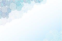 Doodle swirl clouds horizontal background stock illustration