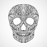 Doodle swirled human skull Royalty Free Stock Images