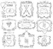 Doodle swirls,frame,arrows,borders,decor element Stock Photography