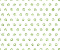 Doodle swirls, white background, seamless pattern. Greenery doodle swirls on white background, seamless pattern vector Royalty Free Stock Photo
