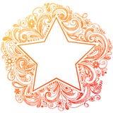 doodle szkicowy gwiazdy wektor Zdjęcia Stock