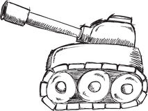 Doodle Tank Vector Stock Image