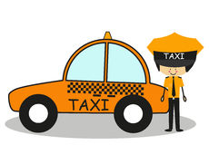 Doodle Taxi Driver in full color Stock Photo