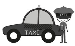 Doodle Taxi Driver Royalty Free Stock Image