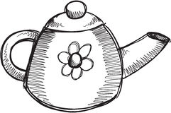 Doodle Tea Pot Vector Stock Images