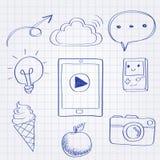 Doodle technologii stylowy wyposażenie ilustracji