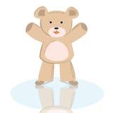 Doodle Teddy bear vector cartoon skater Royalty Free Stock Photography