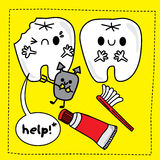 Doodle teeth stock image