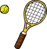 Doodle tennis racket and ball Stock Image