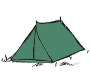 Doodle tent Stock Photography