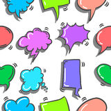 Doodle of text balloon various style. Vector art Stock Image