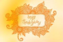 Doodle Thanksgiving frame Stock Image