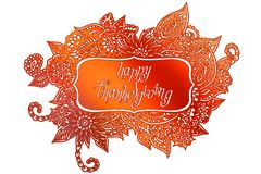 Doodle Thanksgiving frame Royalty Free Stock Photos
