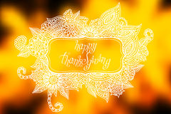 Doodle Thanksgiving frame Royalty Free Stock Images