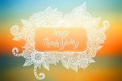 Doodle Thanksgiving frame Stock Photo