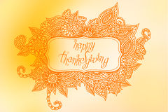 Doodle Thanksgiving frame Stock Image