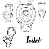 Doodle toaletowa toaletowa toaleta royalty ilustracja