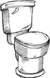 Doodle Toilet Vector Royalty Free Stock Photography