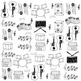 Doodle of tool musical collection vector Royalty Free Stock Image