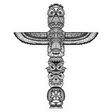 Doodle Totem Illustration Royalty Free Stock Photos