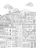 Doodle town Royalty Free Stock Images