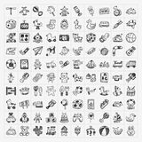Doodle toy icons Royalty Free Stock Images