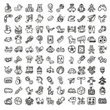 Doodle toys icon set Stock Images