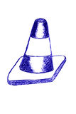 Doodle Traffic Cone Royalty Free Stock Images
