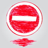 Doodle Traffic Sign, Stop Stock Images