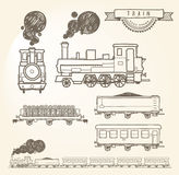 Doodle train Royalty Free Stock Photo