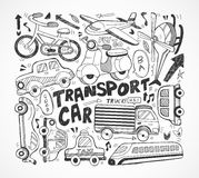 Doodle transport element Royalty Free Stock Photo