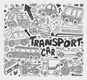 Doodle transport element Royalty Free Stock Image