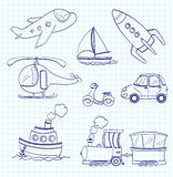 Doodle transport. vector Stock Photos