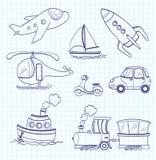 Doodle transport. vector Stock Photos