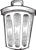 Doodle Trash Can Vector Royalty Free Stock Images