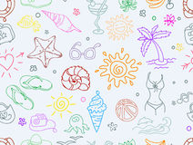 Doodle travel pattern Royalty Free Stock Images