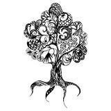 Doodle tree Stock Photography