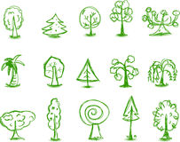 Doodle tree,vector Royalty Free Stock Photography
