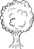 Doodle Tree Vector Royalty Free Stock Image