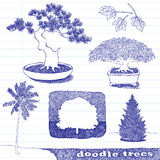 Doodle Trees Stock Photography