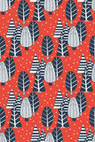 Doodle trees seamless pattern Royalty Free Stock Image