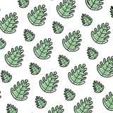 Doodle tropical leaf botany nature background. Vector illustration stock illustration