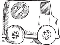 Doodle Truck Vector Stock Photography
