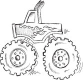 Doodle Truck Vector Royalty Free Stock Images