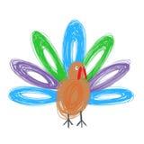 Doodle turkey Royalty Free Stock Image