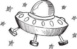 Doodle UFO Vector Stock Photos