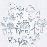 Doodle uprawiać ziemię Fotografia Royalty Free
