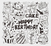 Doodle urodziny element Fotografia Royalty Free